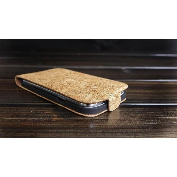 Urcover® Samsung Galaxy Grand Duos 2 Kork Schutz Hülle Flip Wallet Case Cover