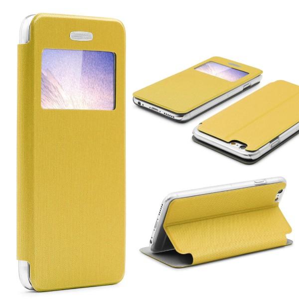 Urcover® Apple iPhone 6 / 6s Schutz Hülle View Case Fenster Tasche Wallet Zubehör
