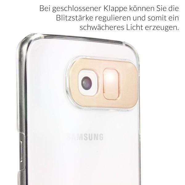 Urcover® Samsung Galaxy S6 Schutz Hülle Flash Back Case Cover Smartphone Tasche