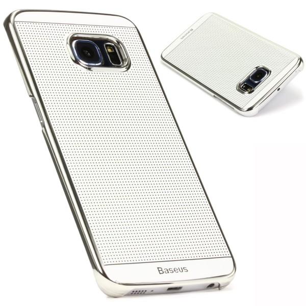 Original Baseus Urcover® Edition Samsung Galaxy S6 Edge Case Backcase Ambilight Series Schale Hülle Weiss / Silber