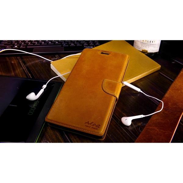 Akira Nokia Lumia 1520 Echtleder Schutzhülle Flip Ledertasche Wallet Etui Schale