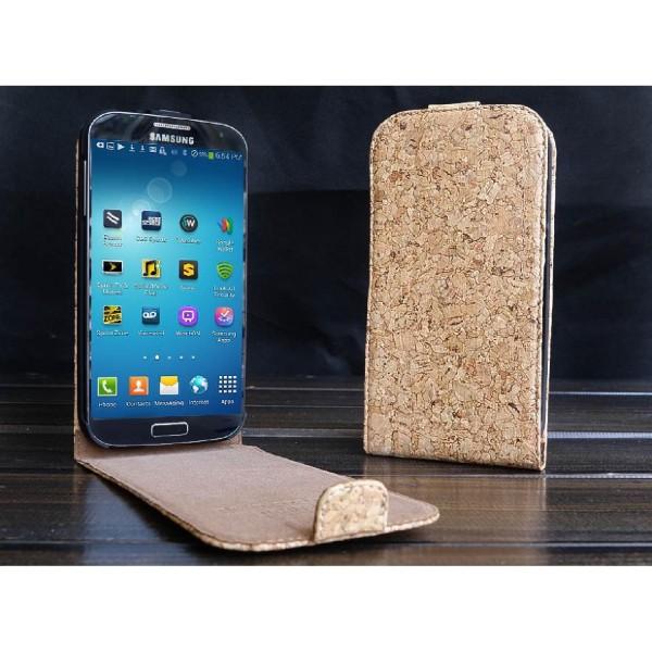 Urcover® Samsung Galaxy S4 Kork Schutz Hülle Flip Wallet Case Cover Schale Etui