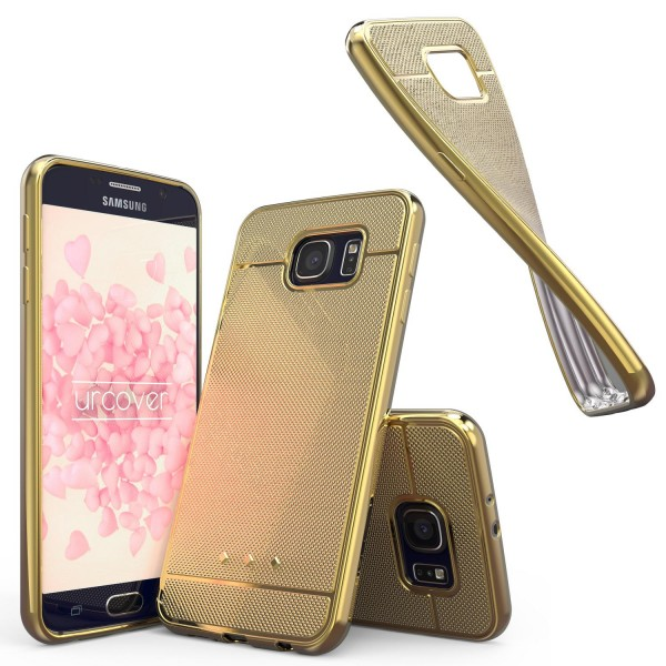 Urcover® Samsung Galaxy S6 Schutz Hülle Metall Optik Silikon Soft Back Case