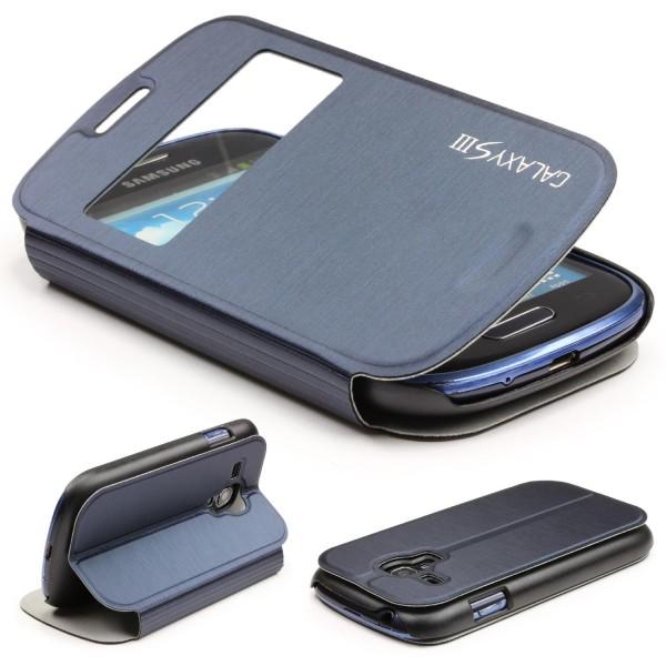 Urcover® Samsung Galaxy S3 Mini Kunststoff Schutz Hülle Case Cover Wallet Tasche