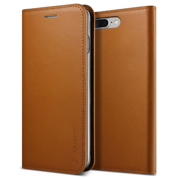 Urcover® Apple iPhone 7 Plus Kunstleder Wallet Kartenfach Case Cover Etui Schale