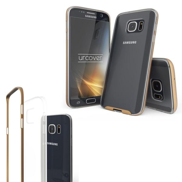 Urcover® Samsung Galaxy S7 Schutzhülle Alu Ecken Schutz Bumper Case Cover Etui
