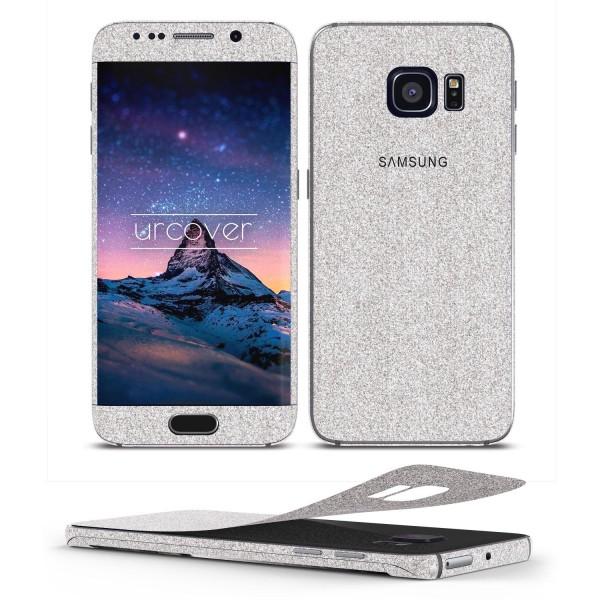 Samsung Galaxy S6 Edge Plus Glitzer Folie Aufkleben Regenbogen Farbig Diamond