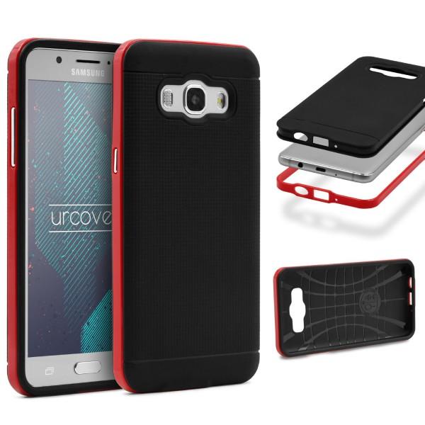 Samsung Galaxy J1 (2016) Schutz Hülle Carbon Style Karbon Optik TPU Case Cover