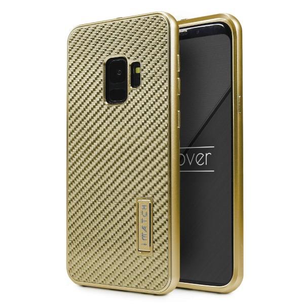 Schutz Hülle für Samsung Galaxy S9 Carbon Karbon Back Case Cover Fiber Bumper