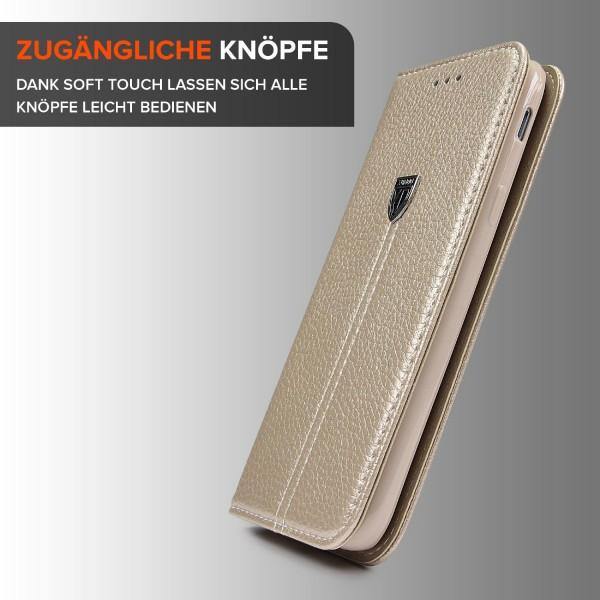 Urcover® Samsung Galaxy J7 (2017 Europa) Handy Schutzhülle Kartenfach Standfunktion Wallet Flip Case