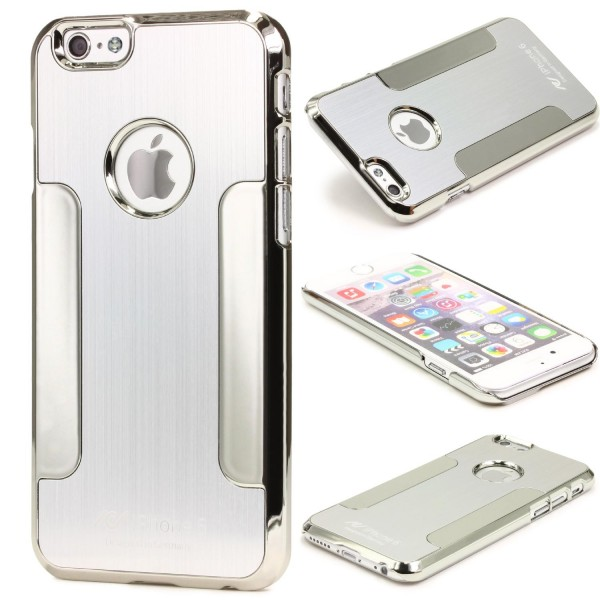 Urcover® Apple iPhone 6 Plus / 6s Plus Schutz Hülle Aluminium Case Cover Chrom