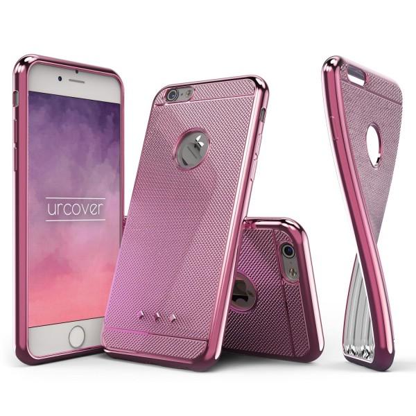 Urcover® Apple iPhone 6 Plus / 6s Plus Schutz Hülle Metall Optik Soft Case Cover