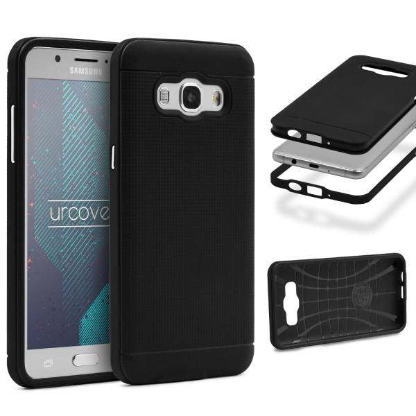 Samsung Galaxy J7 (2016) Schutz Hülle Carbon Style Karbon Optik TPU Case Cover
