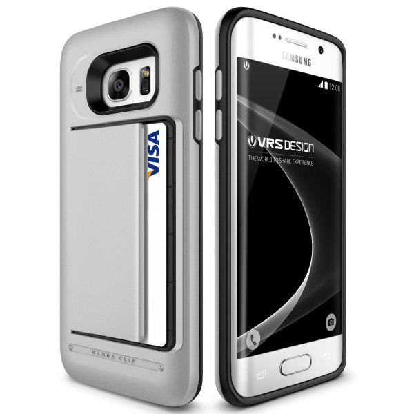 VRS Design® Samsung Galaxy S7 Edge PC TPU Backcase Kartenfach Cover Cae Sleeve