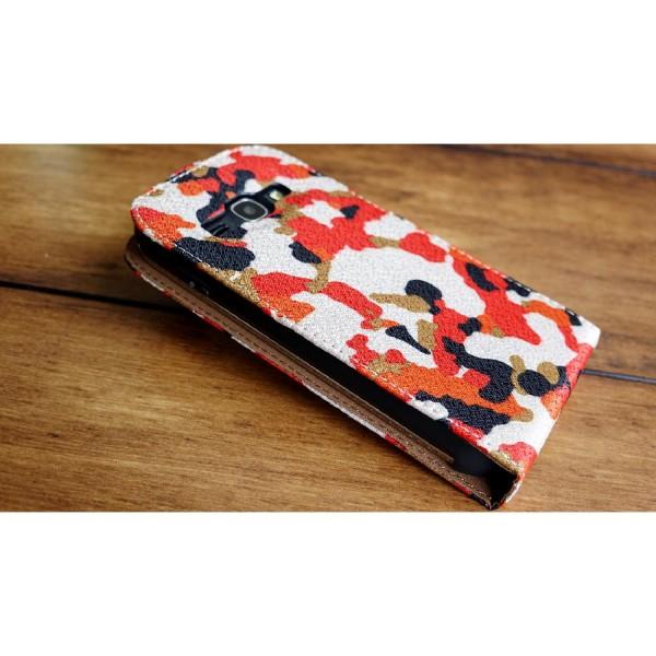 Urcover® Samsung Galaxy Ace 3 Kunststoff Flip Schutzhülle Tarn Optik Case Cover
