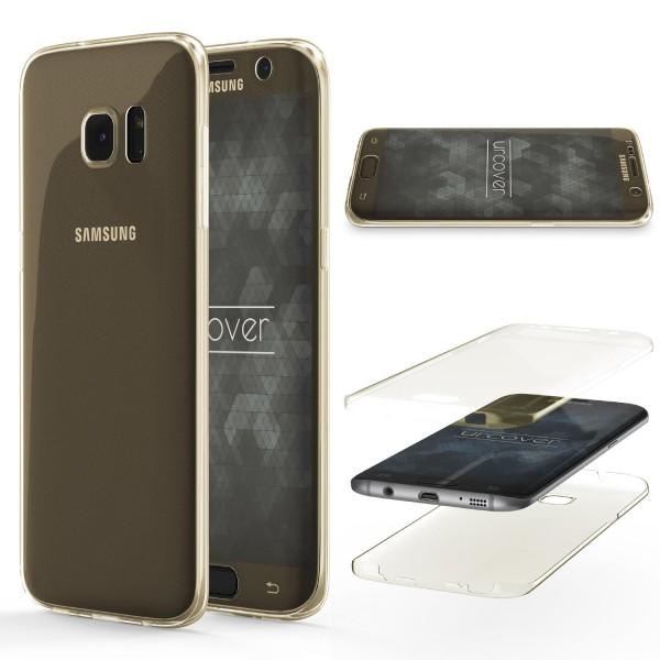 Samsung Galaxy S7 Edge TPU Case 360 Grad Schutz Hülle Etui Cover Touch Case klar