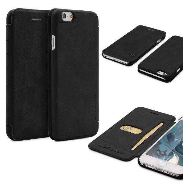 Urcover® Apple iPhone 6 / 6s Schutz Klapp Hülle Kartenfach Wallet Case Cover