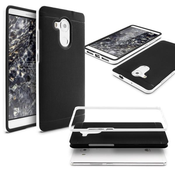 Huawei Mate 8 Schutz Hülle Carbon Style Karbon Optik TPU Case Cover Etui Bumper