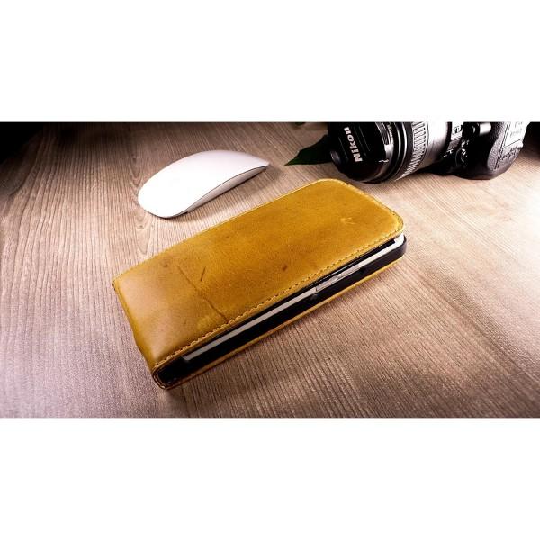 Akira HTC One M7 Handmade Echtleder Schutzhülle Ledertasche Wallet Case Flip