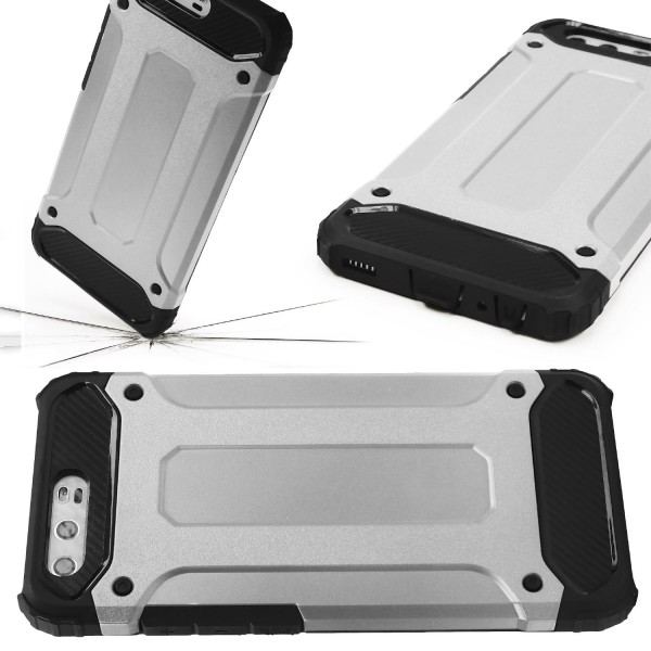 Huawei P10 Plus OUTDOOR Schutz Hülle TOP Cover Backcase Carbon Optik Etui Schale