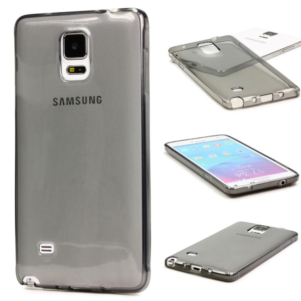 Urcover® Samsung Galaxy Note 4 Schutz Hülle Soft Silikon Case Cover Tasche Clear