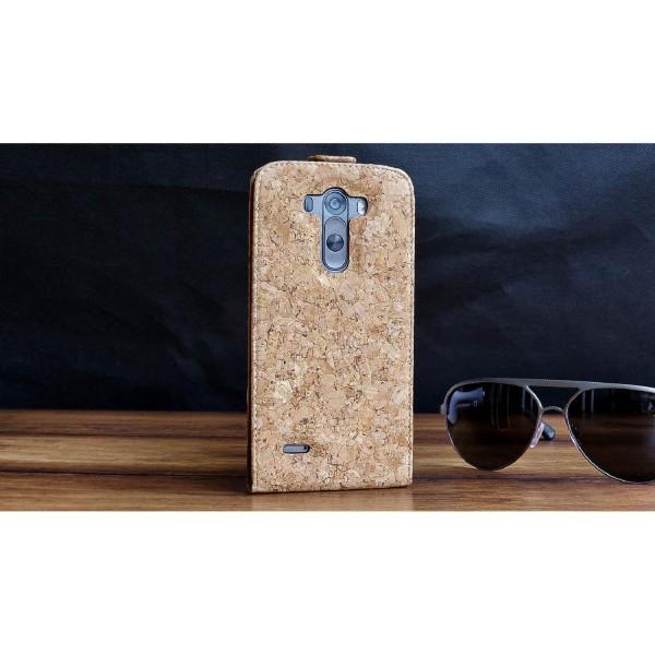 Urcover® LG G3 Kork Schutz Hülle Flip Wallet Case Cover Schale Etui Tasche