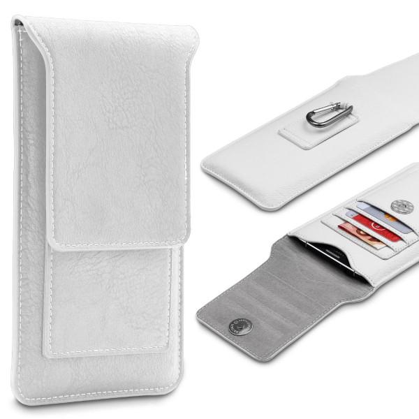 Urcover® 5,5 Zoll Universal Handy Schutz Tasche Case Cover + Karabiner Schale