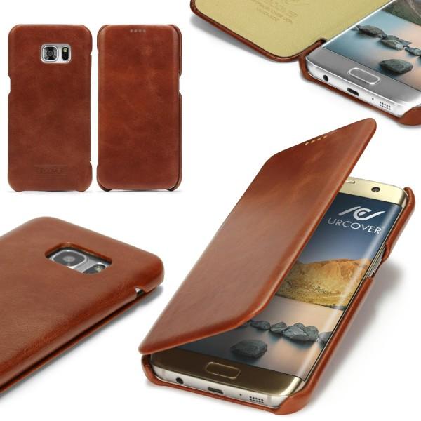Samsung Galaxy S7 Edge Echt Leder Series Handy Schutz Hülle Etui Cover Schale