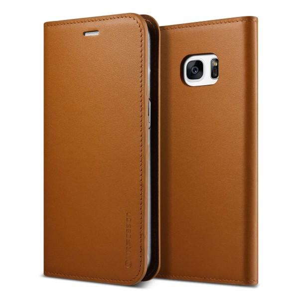 Urcover® Samsung Galaxy S7 Edge Kunstleder Wallet Kartenfach Case Cover Etui