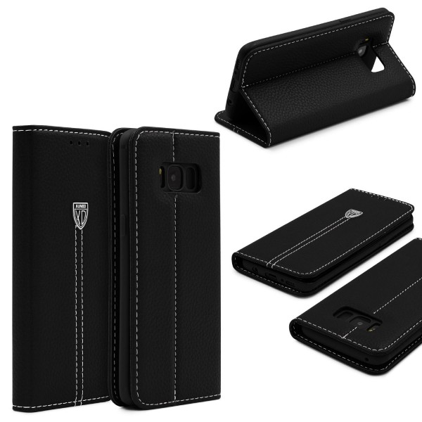 Samsung Galaxy S8 Plus Schutzhülle Wallet Case Flip Cover Kartenfach Schale Etui