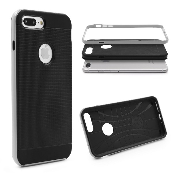 Apple iPhone 7 Plus Schutz Hülle Carbon Style Karbon Optik TPU Case Cover Etui