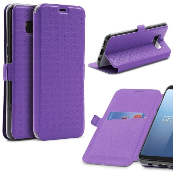 Samsung Galaxy S8 Klapp Handy Schutz Hülle Sichtfenster Kartenfach Standfunktion