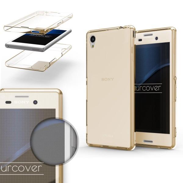 Sony Xperia M4 TPU Case 360 Grad Schutz Hülle Etui Cover Touch Case