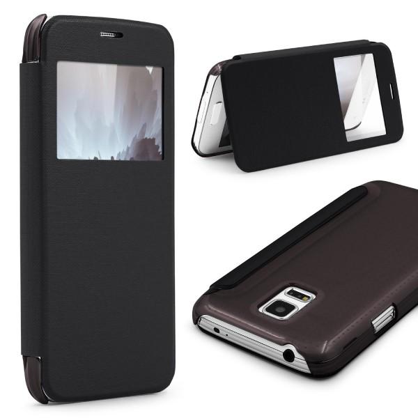Samsung Galaxy S5 Mini View Case klar Schutz Hülle Cover Case Etui Handytasche
