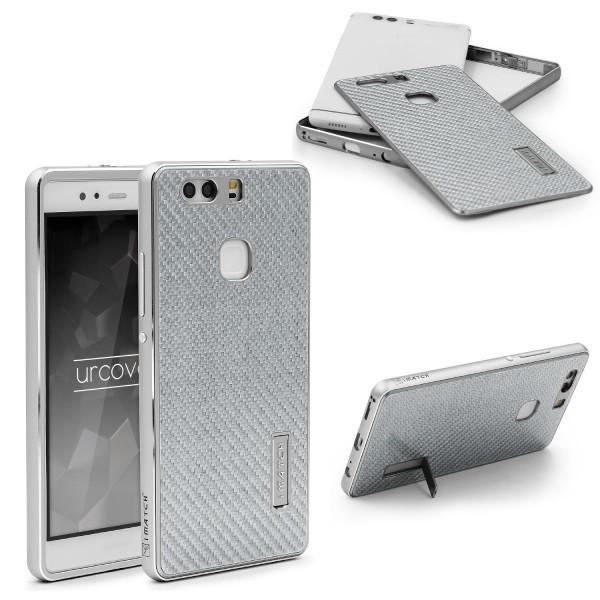 Huawei P9 Plus Echt Carbon Back Case Handy Schutz Hülle Bumper Aluminium Karbon