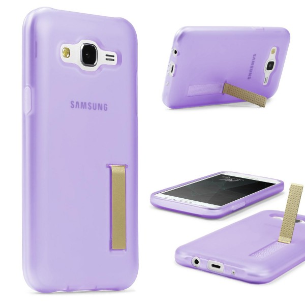 Urcover® Samsung Galaxy J7 (2015) Schutz Hülle mit Standfunktion Soft Case Cover