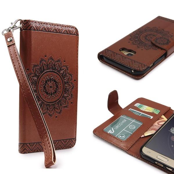 Samsung Galaxy A3 (2017) Wallet Klapp Schutz Hülle Stand Flip Case Cover Etui