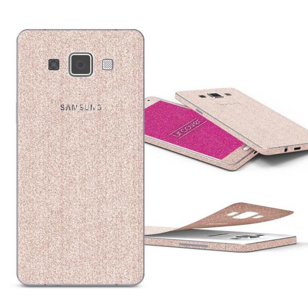 Samsung Galaxy A5 (2015) Glitzer Folie Aufkleben Regenbogen Farbig Diamond Bling