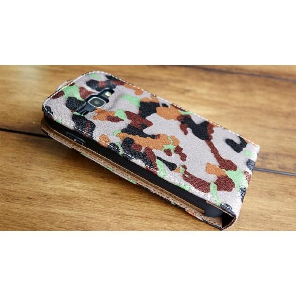 Urcover Samsung Galaxy Ace 3 Tarn Optik Schutz Hülle Case Cover Etui Flip Wallet