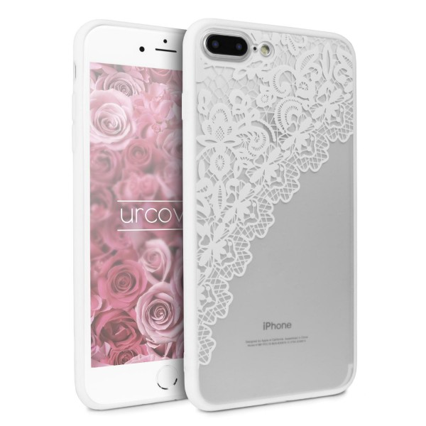 Urcover® Apple iPhone 7 Plus Schutz Hülle Spitzen Muster Back Bumper Case