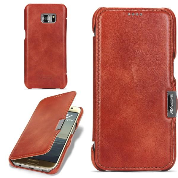 Samsung Galaxy S7 Echt Leder Series Handy Schutz Hülle Etui Flip Cover Schale