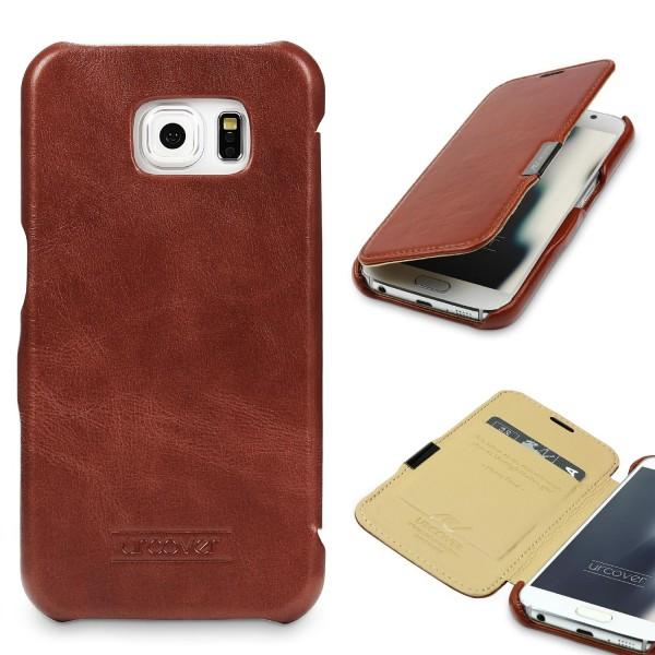 Samsung Galaxy S6 Echt Leder Series Handy Schutz Hülle Etui Flip Cover Schale