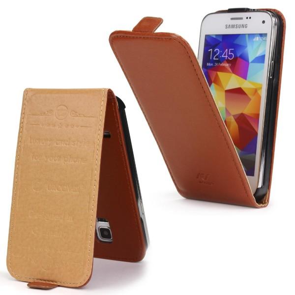 Urcover® Samsung Galaxy S5 Mini Schutz Klapp Hülle Magnet Flip Case Cover Tasche