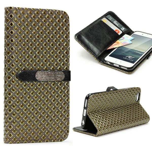Apple iPhone 6 Plus / 6s Plus Wallet Handy Schutz Hülle Magnet Verschluss Case