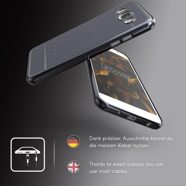 Urcover® Samsung Galaxy J1 (2016) Schutz Hülle Metall Optik Silikon Soft Case