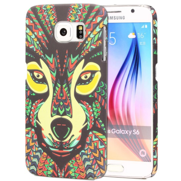 Urcover® Samsung Galaxy S6 Schutz Hülle Tier Muster Hard Back Case Cover Etui
