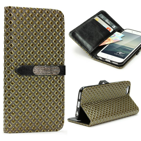 Apple iPhone 6 / 6s Vintage Wallet Edition Handy Schutz Hülle Cover Case Tasche