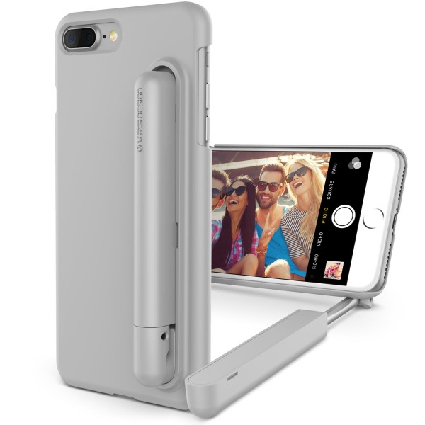 Apple iPhone 7 Plus Selfie Stick Case Back Cover Foto-Stab Photo Stange Hülle