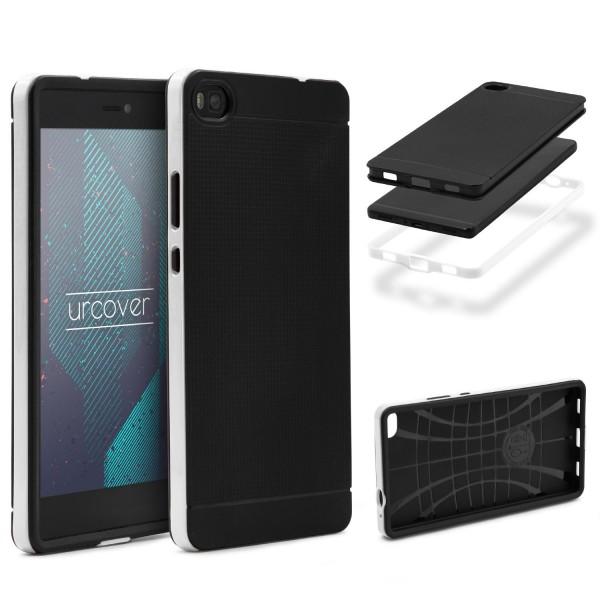 Huawei P8 Schutz Hülle Carbon Style Karbon Optik TPU Case Cover Etui Bumper