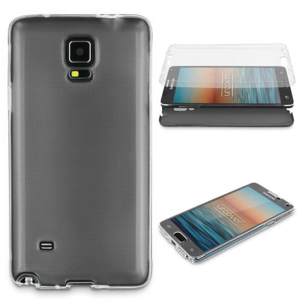 Samsung Galaxy Note 4 360 GRAD RUNDUM SCHUTZ Metalloptik Slim Hülle Cover Case